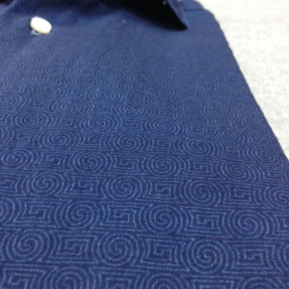 Patterned Navy Blue Shirt