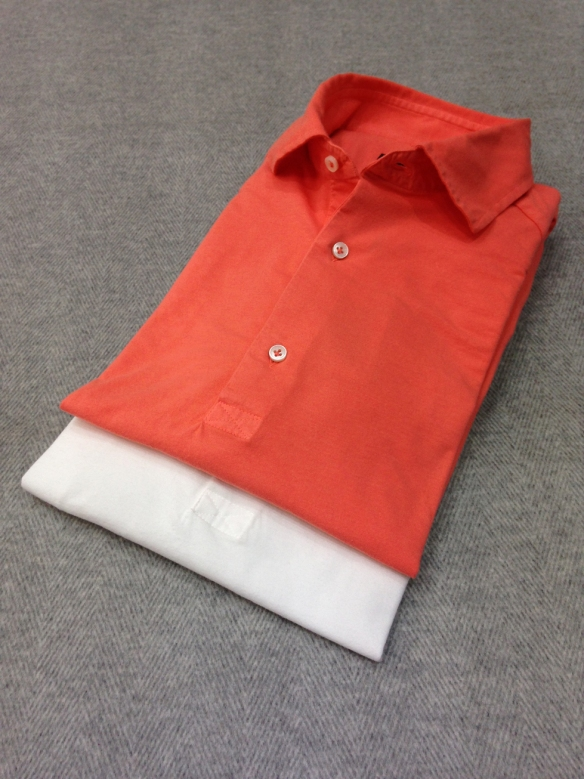 White and Coral Cotton T-Shirts