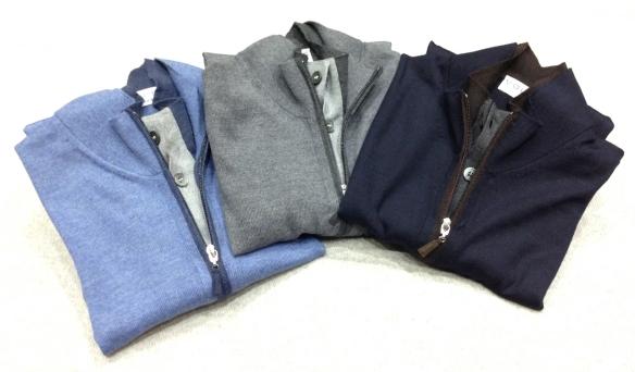 Merino Wool Full Zip cardigan with hidden buttoning