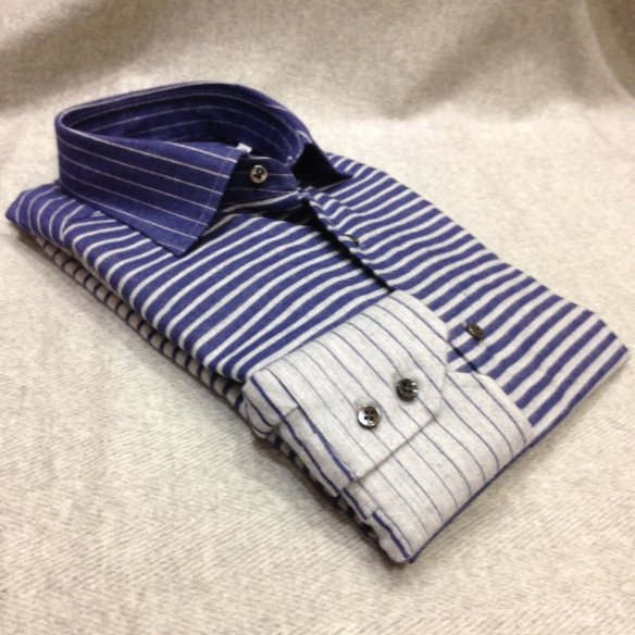Brushed Cotton Gradient Stripe Shirt