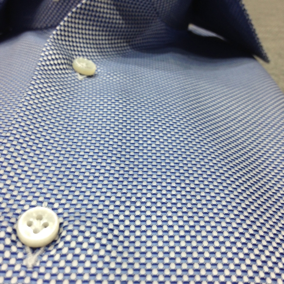 White, Light Blue and Dark Blue Large Oxford weave