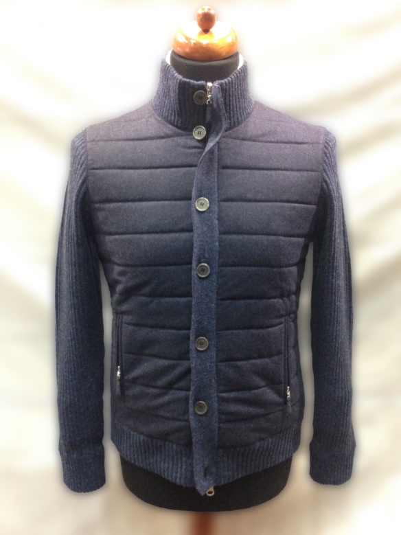 Blue Wool Blouson with Hollofil Lining
