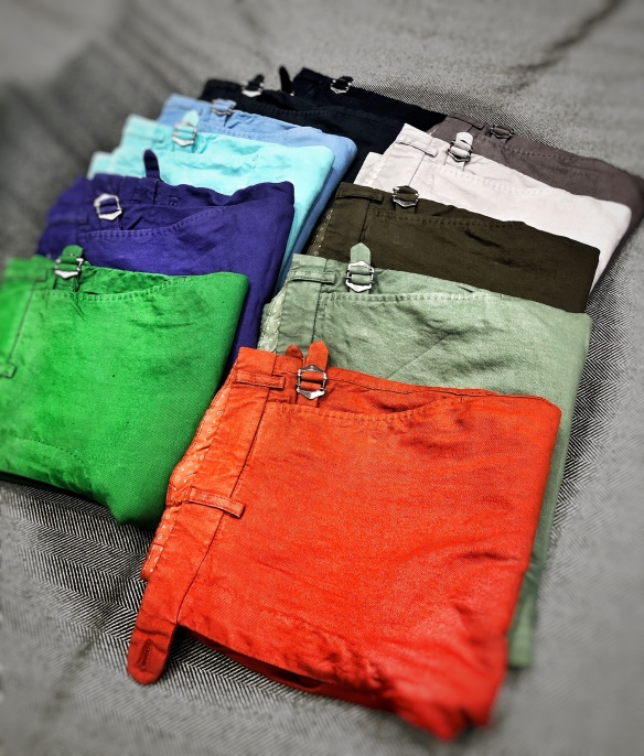 Cotton and Linen Stretch Shorts